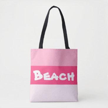 Beach Themed Pink Paradise Beach Bag