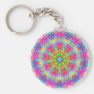 Pink Paradise Mandala Design Keychain