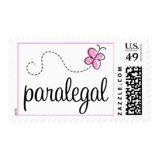 Pink Paralegal job design Postage Stamp