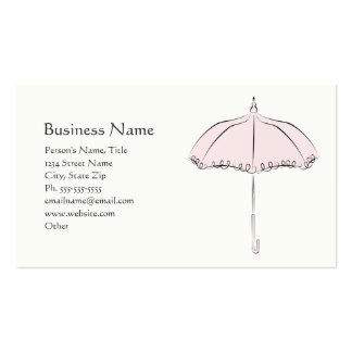 Pink Parasol Double-Sided Standard Business Cards (Pack Of 100)