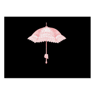 Pink Parasol Large Business Cards (Pack Of 100)