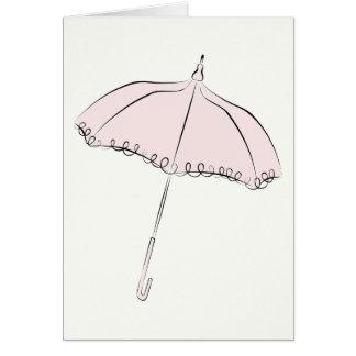 Pink Parasol Card