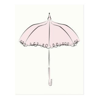 Pink Parasol Postcard