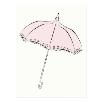 Pink Parasol Post Card