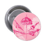 Pink Parasols Pinback Buttons