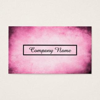 pink parchment business card
