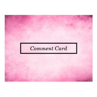 pink parchment comment card