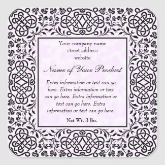 Pink Parchment Paper Style Label With Frame