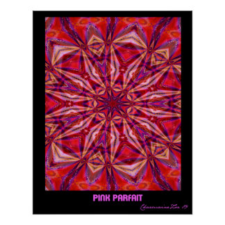 Pink Parfait: Abstract Art Poster