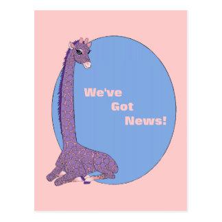 Pink Parfait Giraffe Postcard