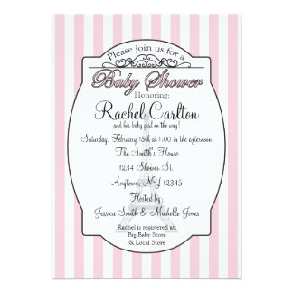 Pink Paris Baby Shower Invitation Personalized Invitation