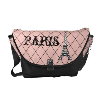 Pink Paris Eiffel Tower Messenger Bag Purse Gift