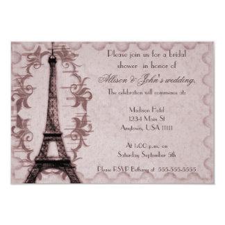 Pink Paris Grunge Bridal Shower Invitation