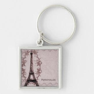 Pink Paris Grunge Keychain