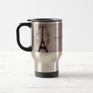 Pink Paris Grunge Travel Mug