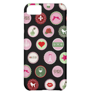 Pink Paris love girly pattern iPhone 5C Cover