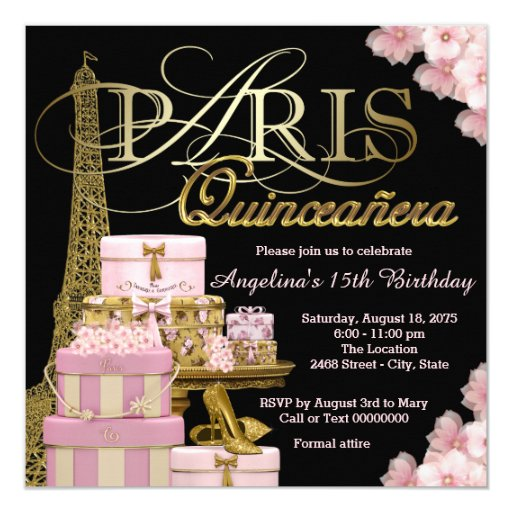 How To Make Quinceanera Invitations is adorable invitations layout