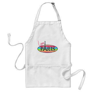 Pink Paris; Retro Neon Rainbow Aprons
