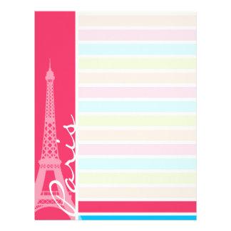 Pink Paris; Retro Neon Rainbow Letterhead