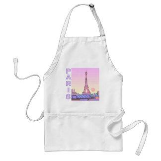Pink Paris Sunset Products Adult Apron