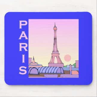 Pink Paris Sunset Products Mouse Pad