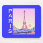 Pink Paris Sunset Products Mouse Pads