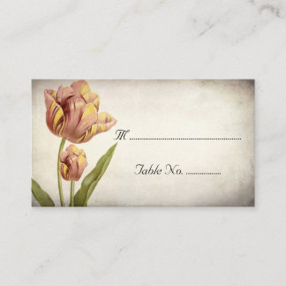 Pink Parrot Tulip Place Cards