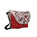Pink Party Animals Messenger Bag