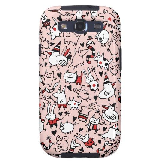 Pink Party Animals Samsung Galaxy S3 Case