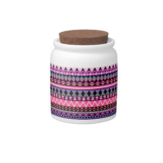 Pink Party Aztec Pattern Candy Dishes