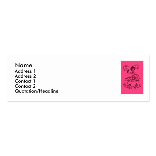 Pink Party Hostess Mini Business Card