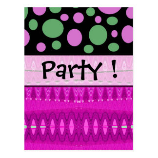 Pink Party invite Postcard