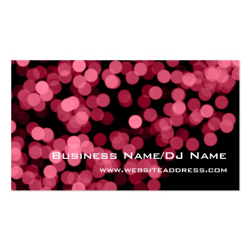 Pink Party Lights (Music or DJ) Business Cards