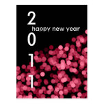 Pink Party Lights New Year Custom Postcard