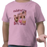 Pink Party Monkey 3rd Birthday Tshirts and Gifts