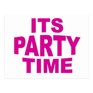 Pink Party Time Postcard