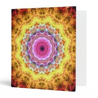 Pink Passion kaleidoscope 3 Ring Binders