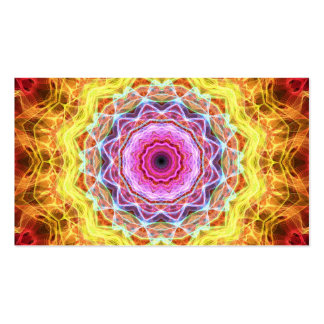 Pink Passion  kaleidoscope Business Card Template
