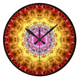 Pink Passion  kaleidoscope Large Clock