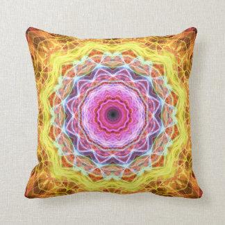 Pink Passion  kaleidoscope Throw Pillow