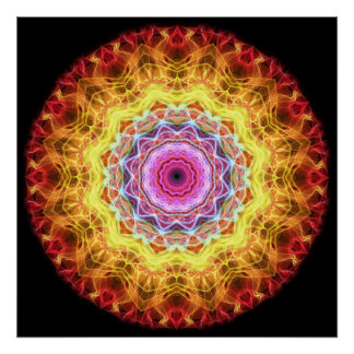Pink Passion  kaleidoscope Poster