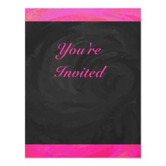 Pink Passion Personalized 4.25x5.5 Paper Invitation Card