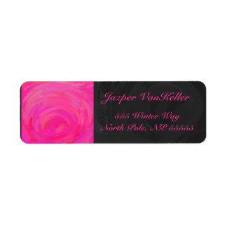 Pink Passion Personalized Custom Return Address Label