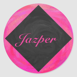Pink Passion Personalized Round Stickers
