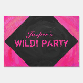 Pink Passion Personalized Yard Sign