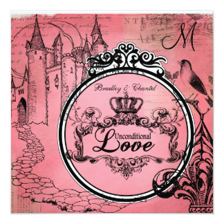Pink Passion Unconditional Love Wedding Invite