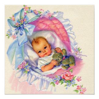Pink Pastel Baby Girl Shower Invitation