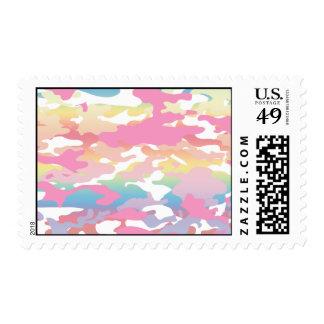 Pink Pastel Camo Pattern Postage