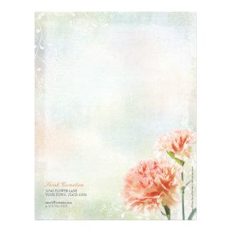 Pink Pastel Carnations Personal Letterhead