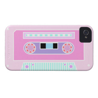 Pink Pastel Cassette Case-Mate iPhone 4 Cases